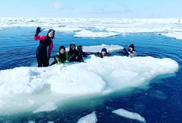 【北海道宇登呂】不只可以看到流冰,還可以摸得到流冰的 #流冰漫步體驗。